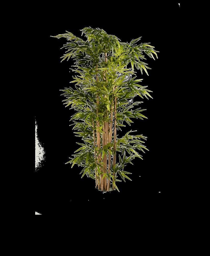 het bladerdak van een bamboe kunstplant